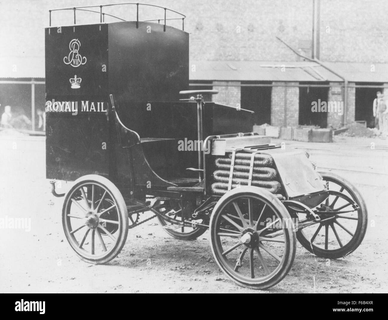 Royal Mail van built at the Scotswood Works - Stock Image