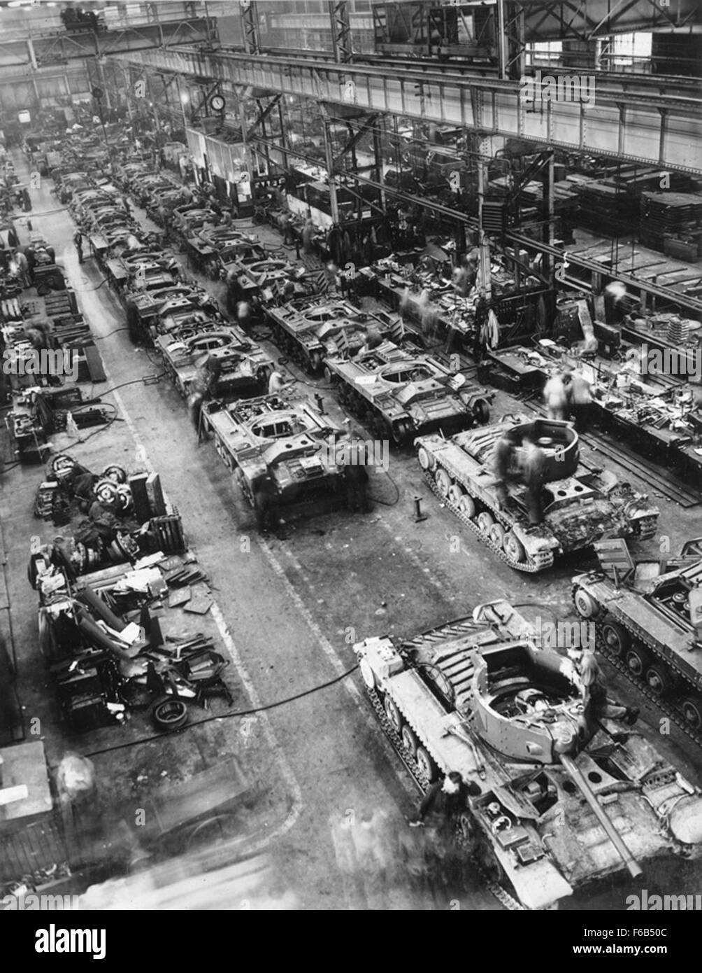Valentine Tanks on the Assembly Line - Stock Image