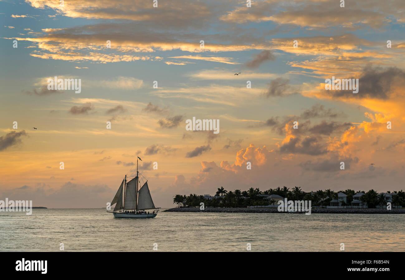 Sunset at Key West - Stock Image