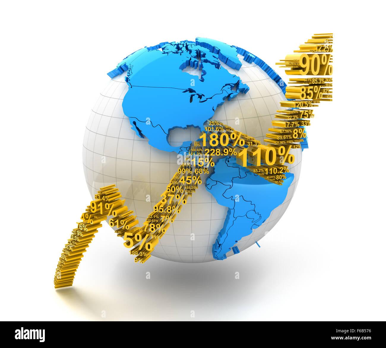 Global finanical growth - Stock Image