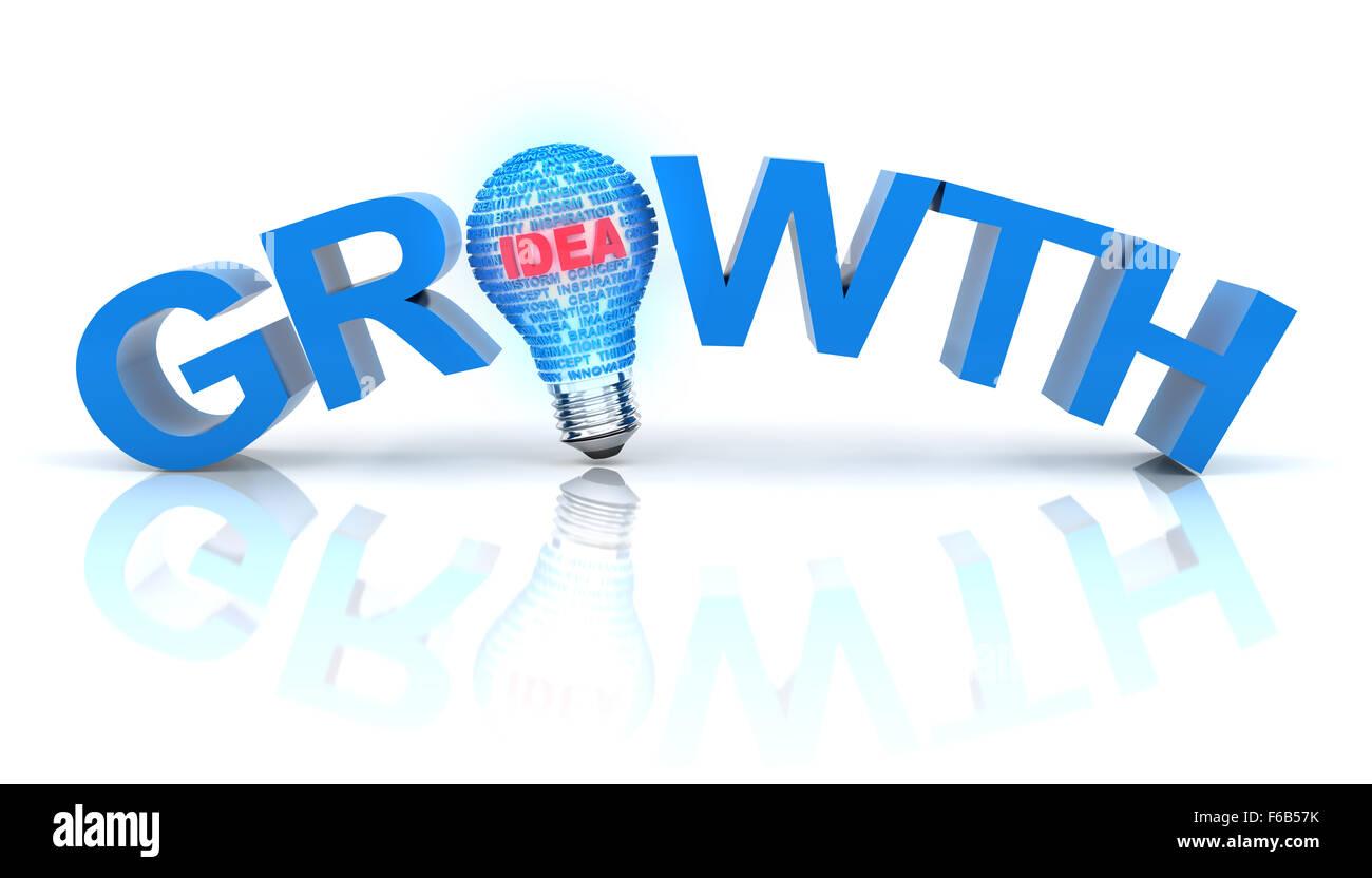 Growth idea concept - Stock Image