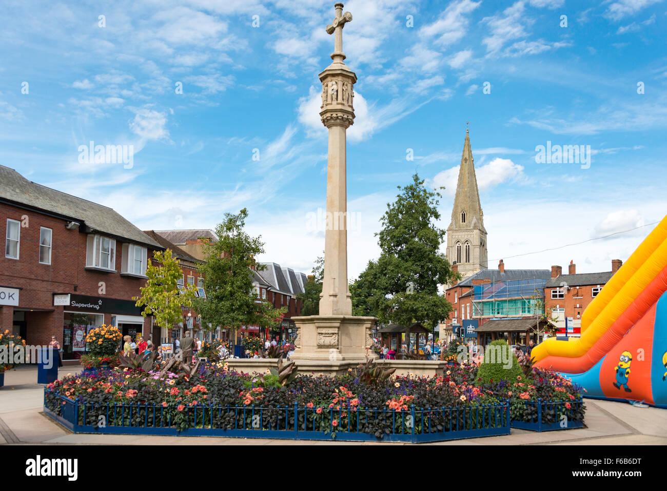 The Square, Market Harborough, Leicestershire, England, United Kingdom - Stock Image