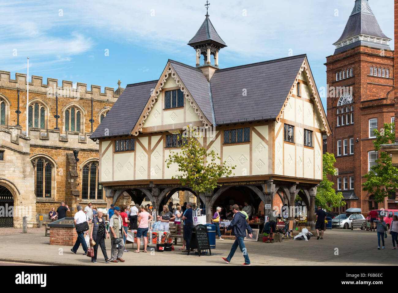 17th Century The Old Grammar School, Church Square, Market Harborough, Leicestershire, England, United Kingdom - Stock Image