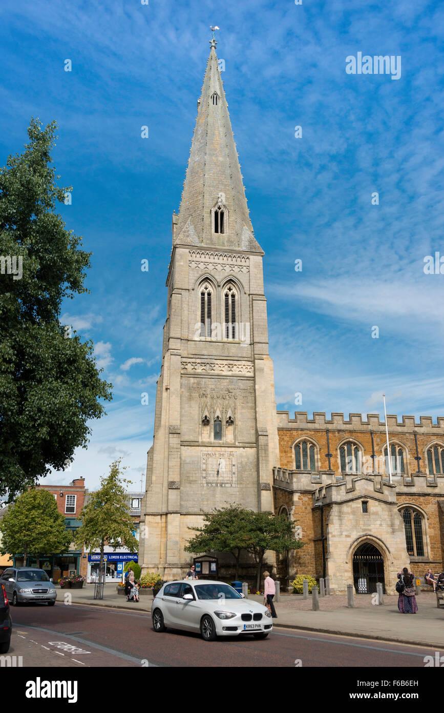 St Dionysius' Church, Church Square, Market Harborough, Leicestershire, England, United Kingdom - Stock Image