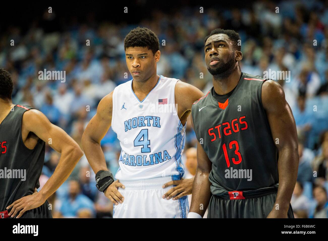 huge selection of be666 fef98 UNC Forward Isaiah Hicks (4) and Fairfield Forward Jonathan ...