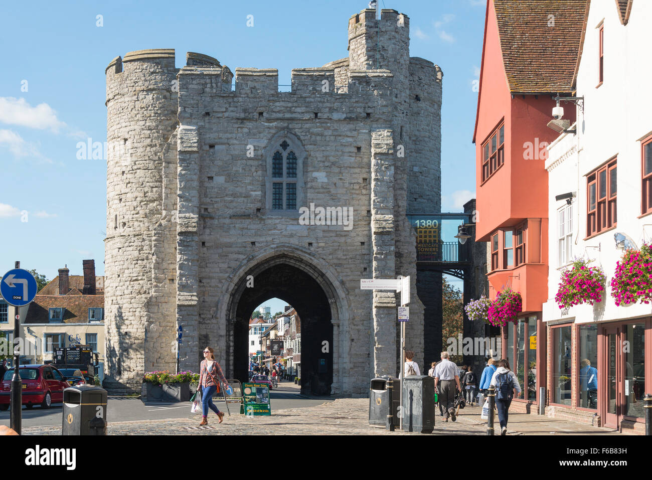 Westgate Towers, St Peter's Place, Canterbury, Kent, England, United Kingdom - Stock Image
