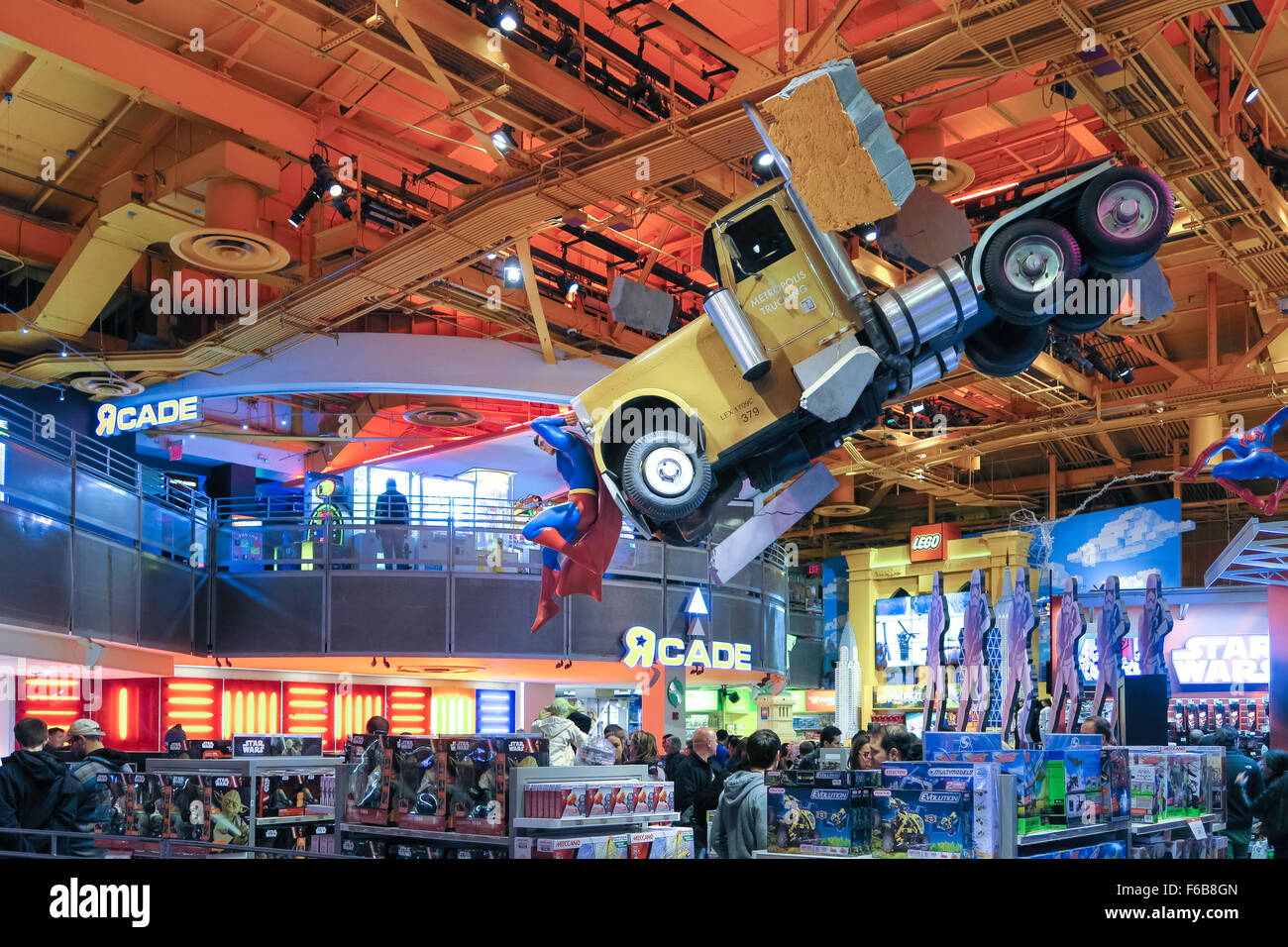 Toys R Us Times Square : Toys r us interior at times square nyc stock photo