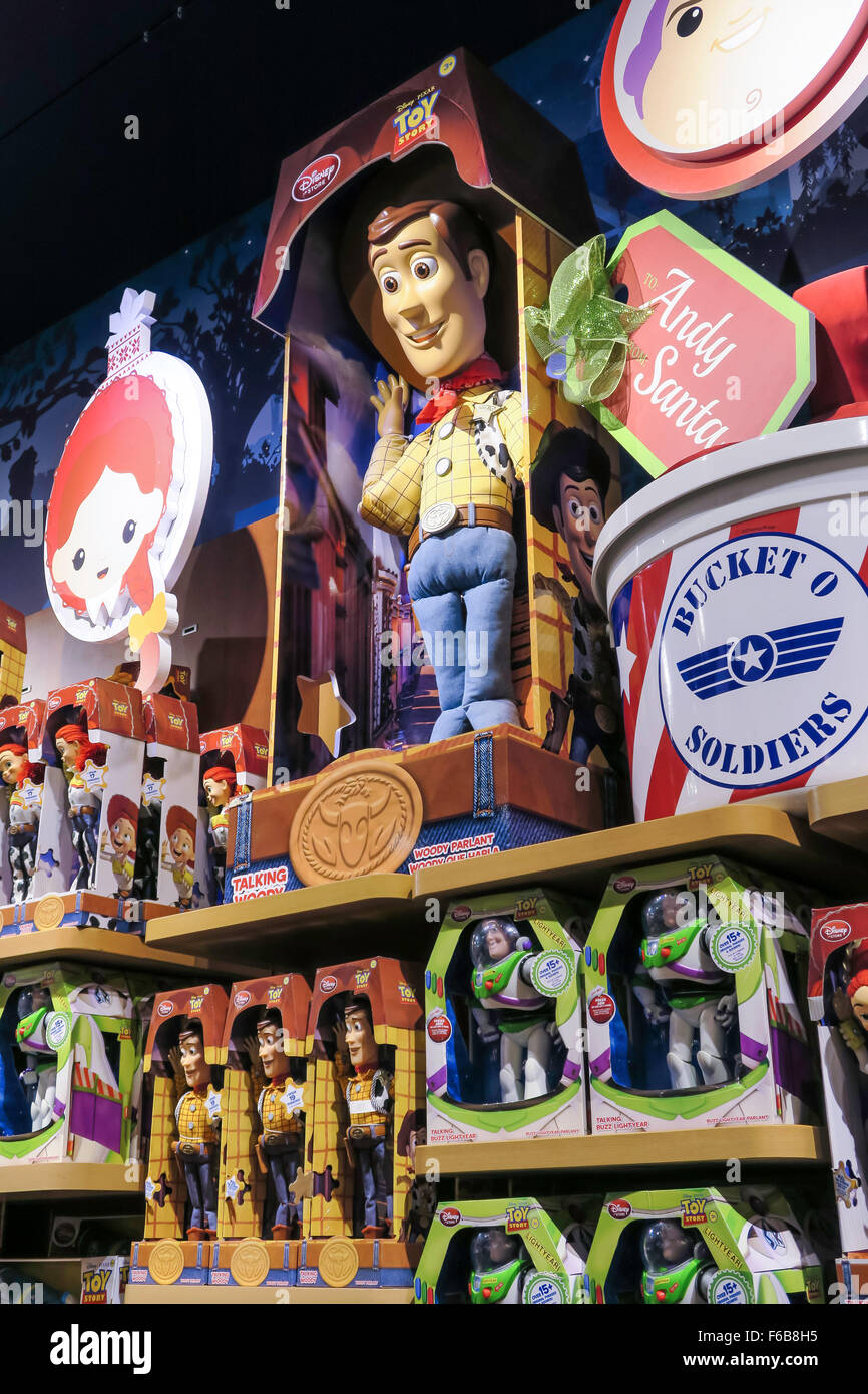 Disney Store Interior Times Square Nyc Stock Photo
