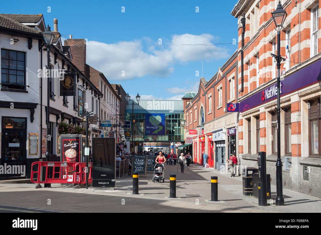 pedestrianised wellington street aldershot hampshire england