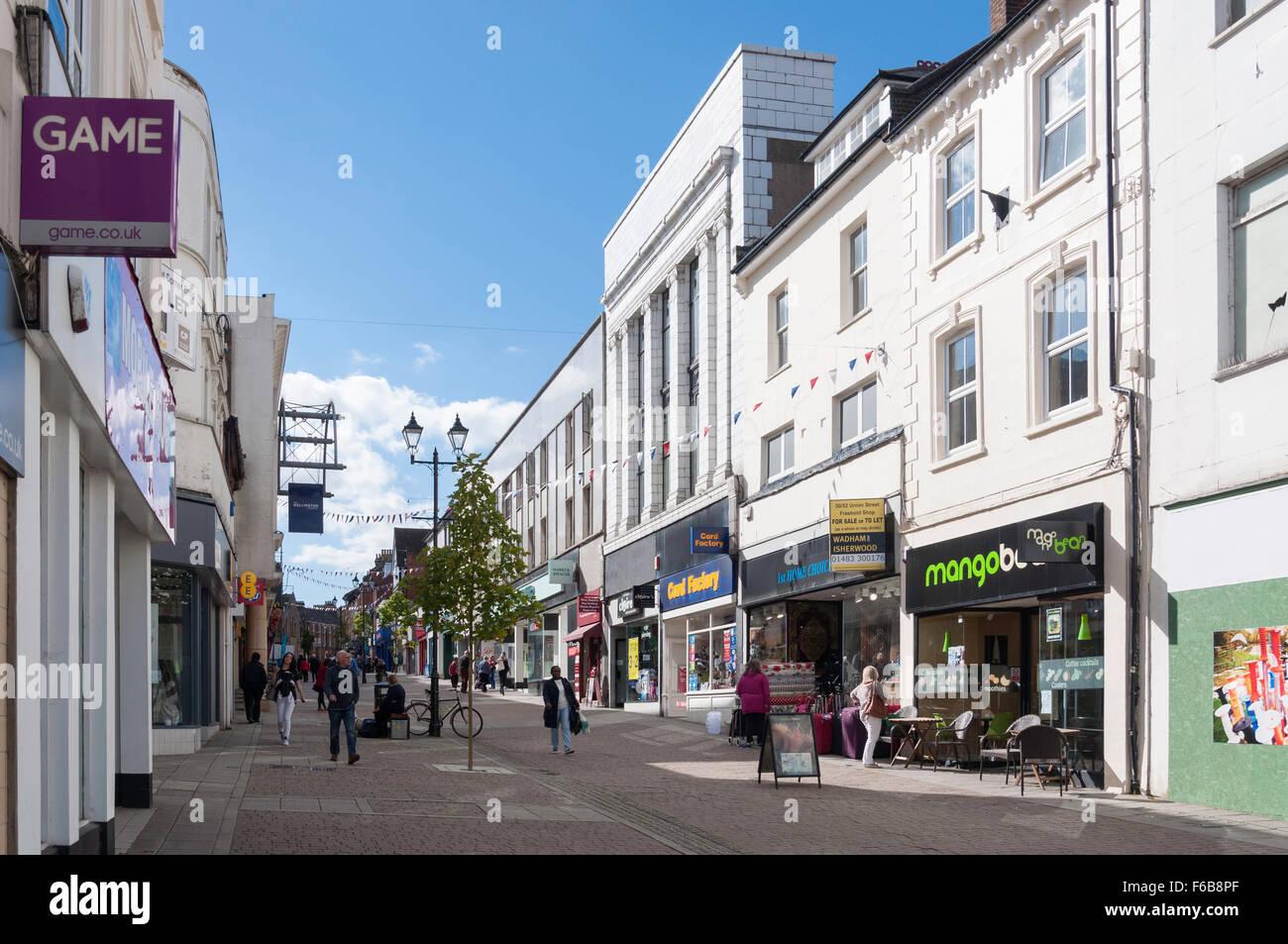 Pedestrianised Union Street Aldershot Hampshire England United