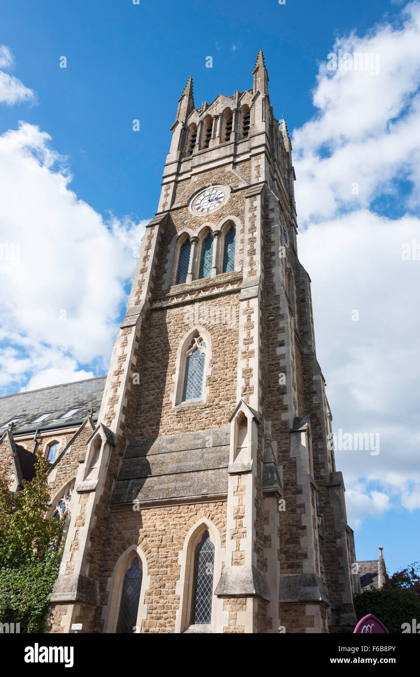 Wesley Chambers (converted listed church), Queens Road, Aldershot, Hampshire, England, United Kingdom - Stock Image