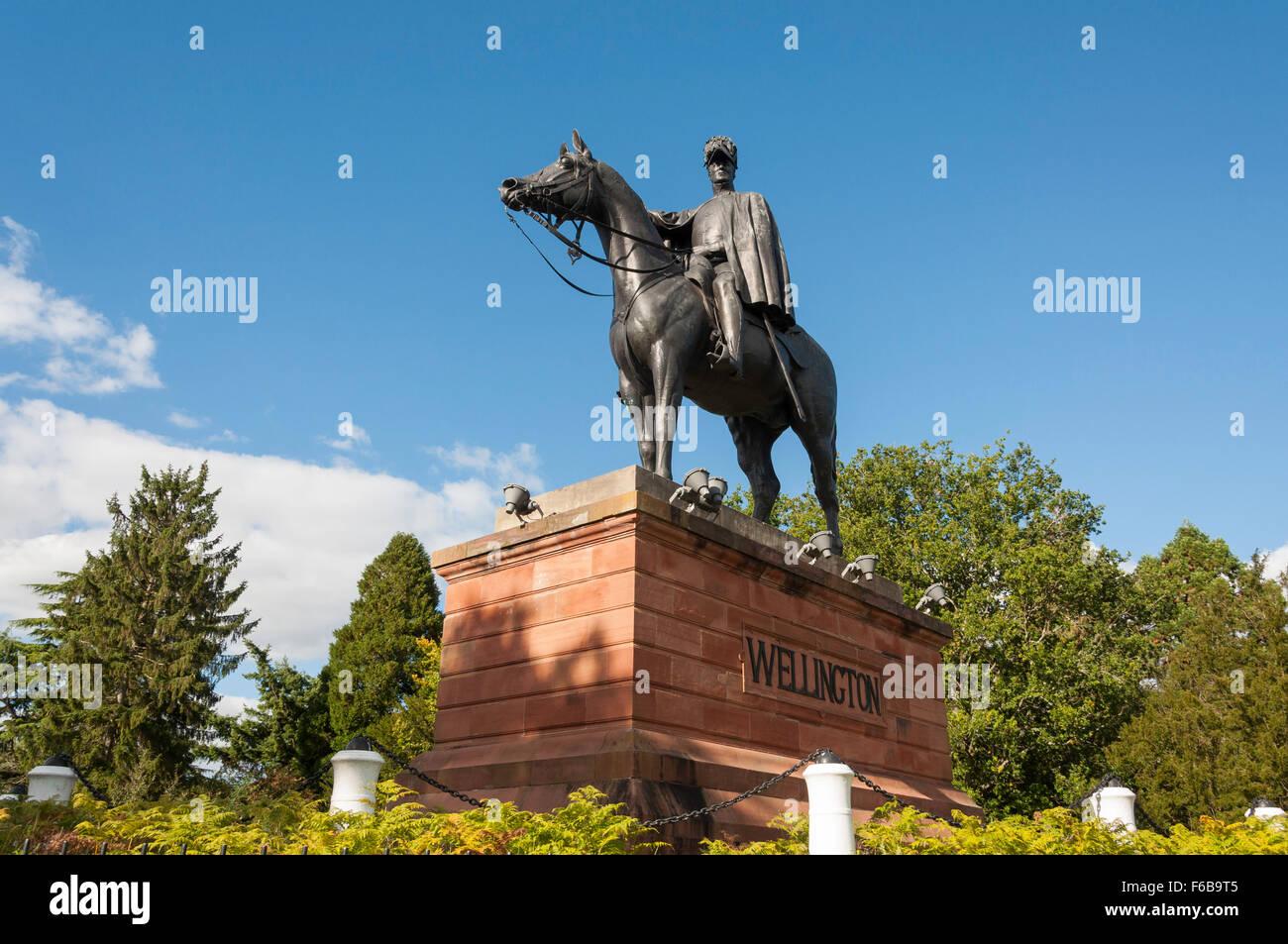 The Wellington Monument, Round Hill, Aldershot, Hampshire, England, United Kingdom - Stock Image