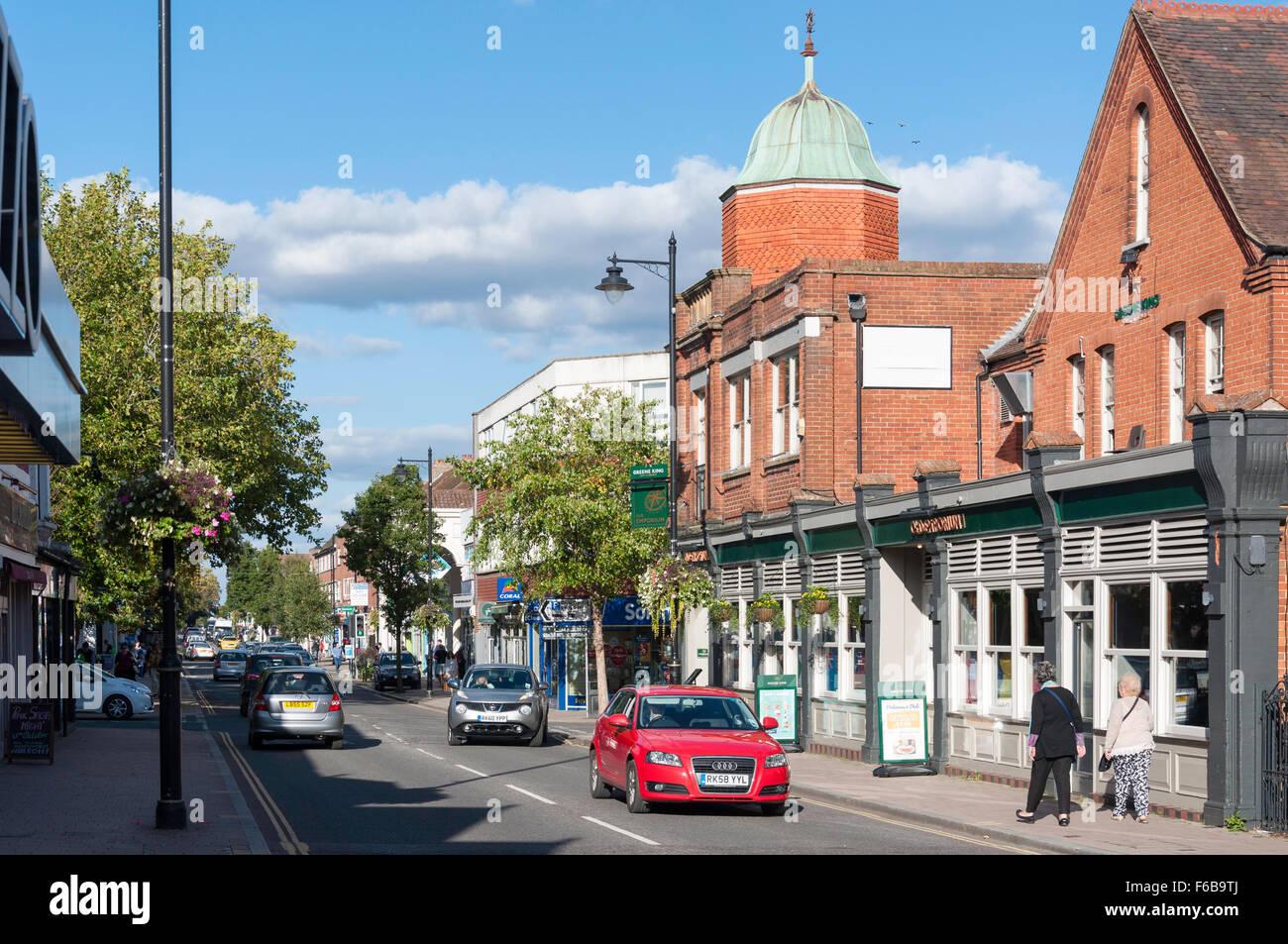 Town Centre, Fleet Road, Fleet, Hampshire, England, United Kingdom - Stock Image