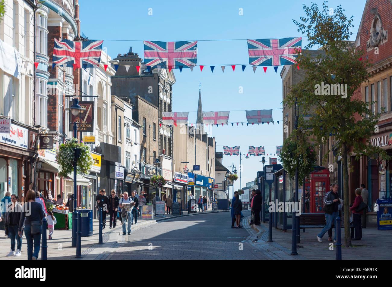 Pedestrianised King Street, Gravesend, Kent, England, United Kingdom - Stock Image