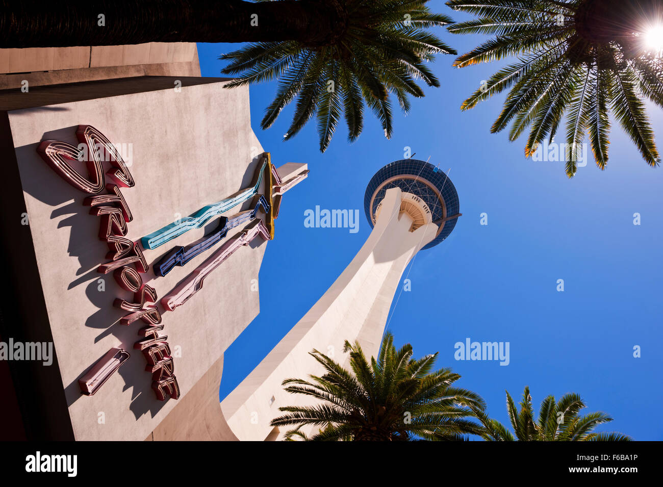 The Stratosphere Hotel and Casino in Las Vegas Nevada - Stock Image