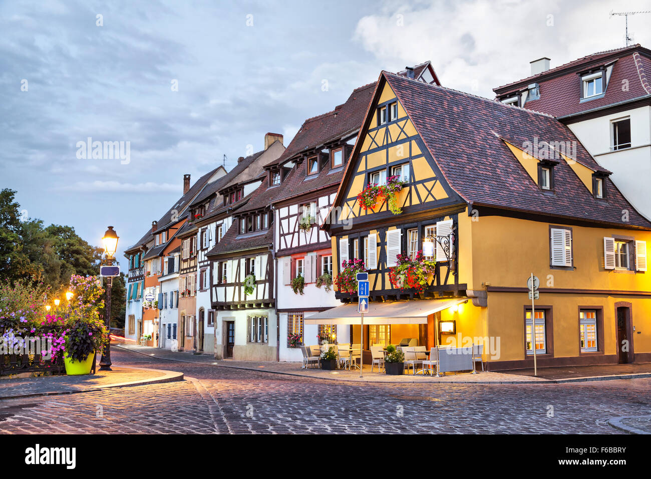 Traditional French Houses In Petit Venice Colmar France