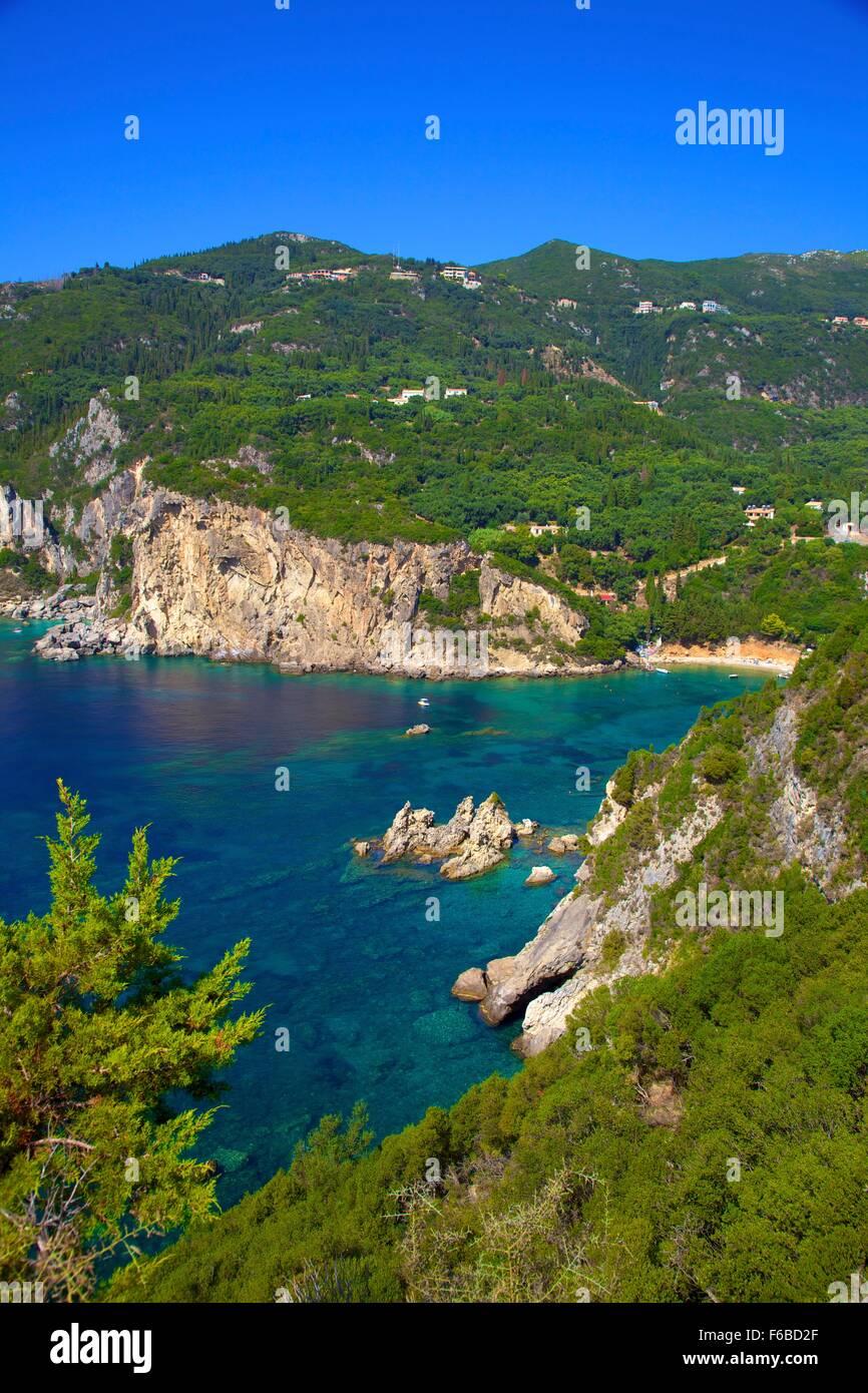 Palaiokastritsa, Corfu, The Ionian Islands, Greek Islands, Greece, Europe - Stock Image