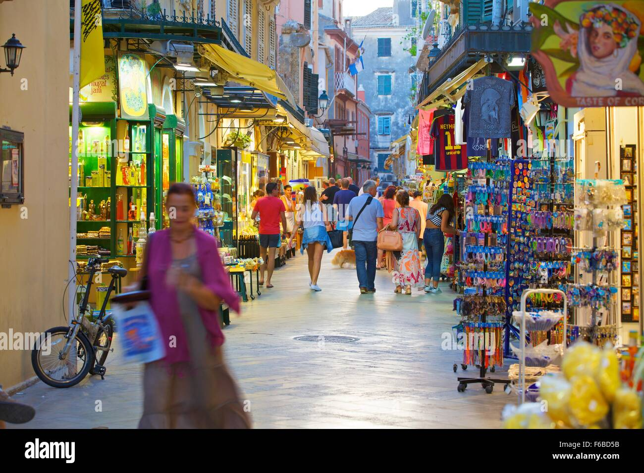 Shopping, Corfu Old Town, Corfu, The Ionian Islands, Greek Islands ...