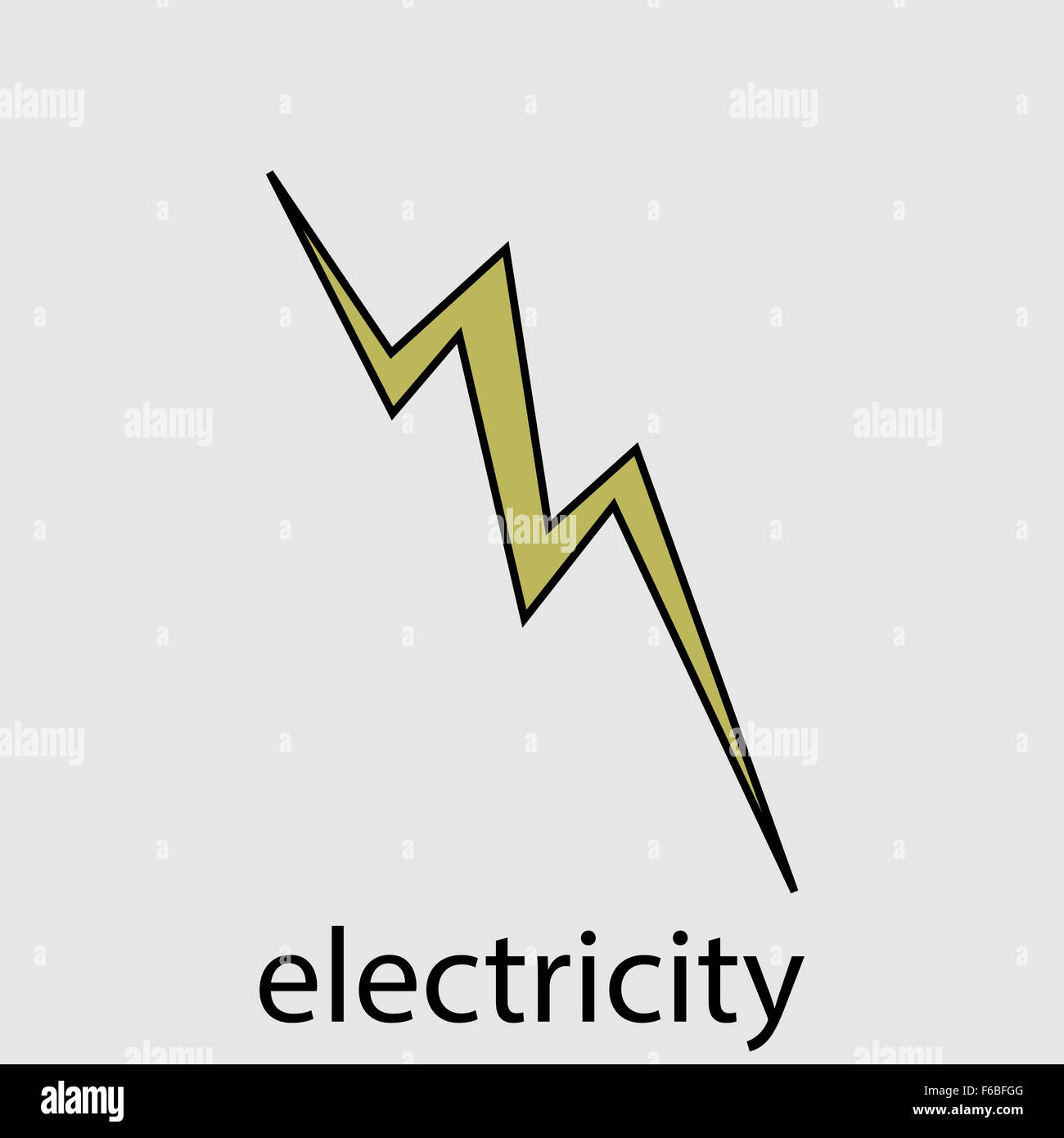Icon electricity flat design lightning. Energy electricity power ...