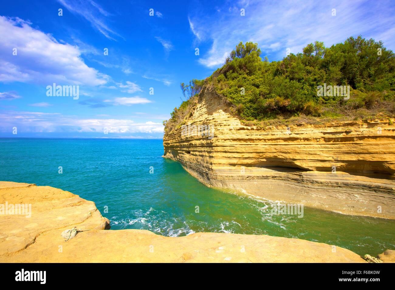Sidari, Corfu, The Ionian Islands, Greek Islands, Greece, Europe - Stock Image