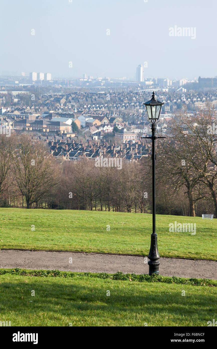 View of Crouch End and central London from Alexandra Palace, London, England Stock Photo