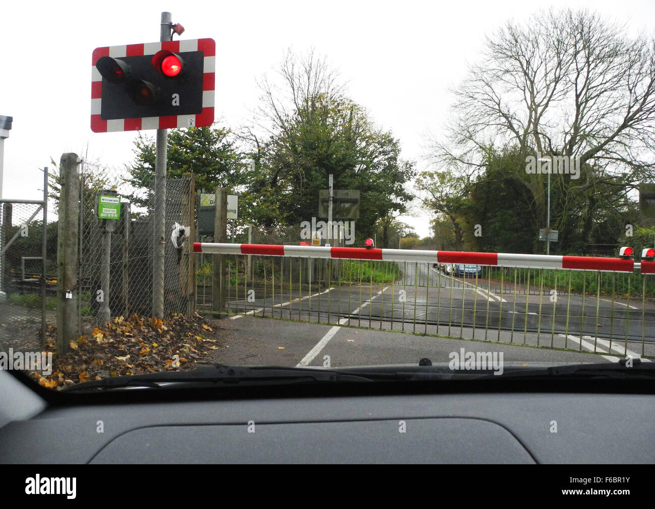 Level crossing uk stock photos