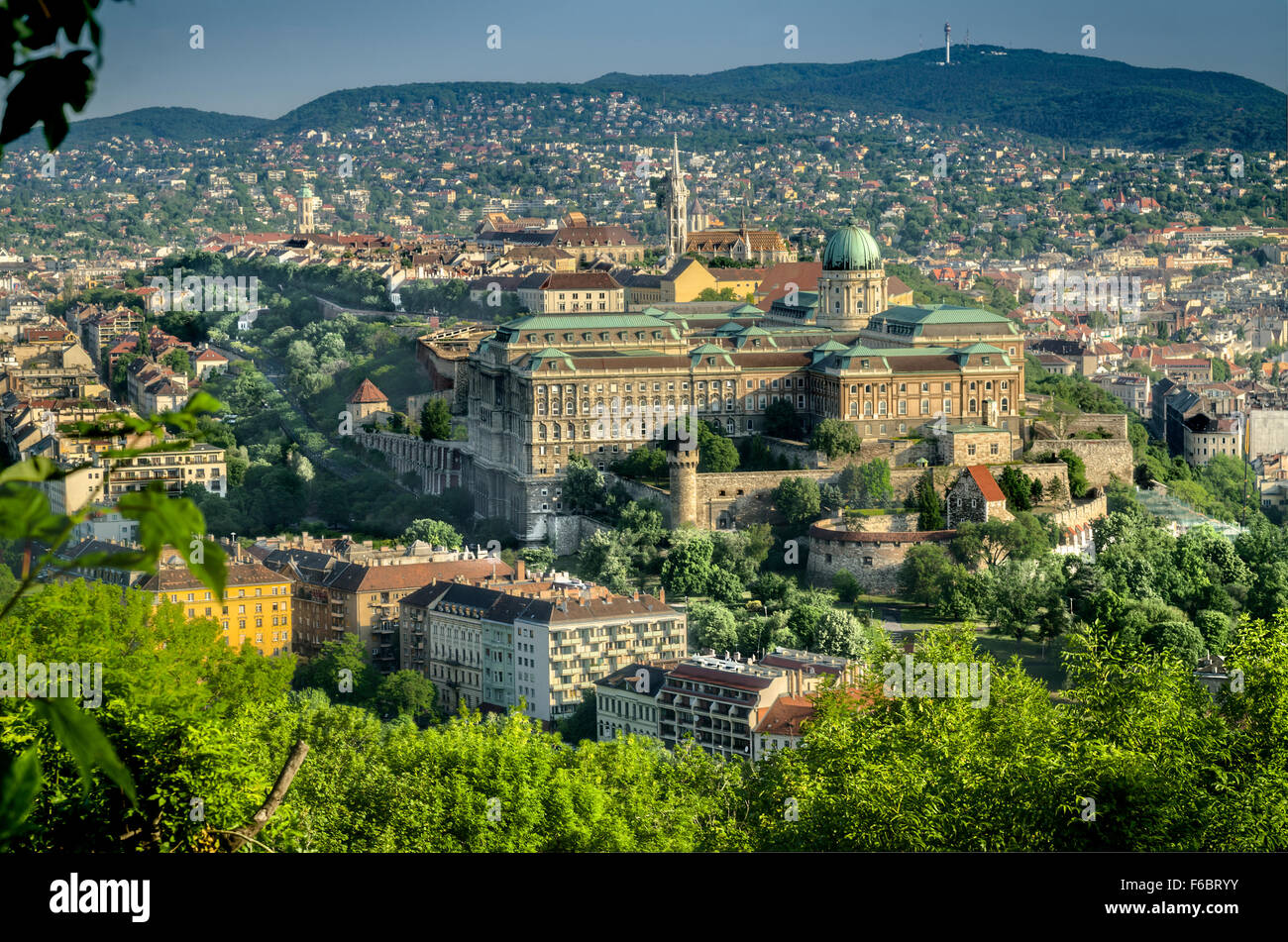 Royal Palace situated on Castle Hill. Budapest, Hungary Stock Photo