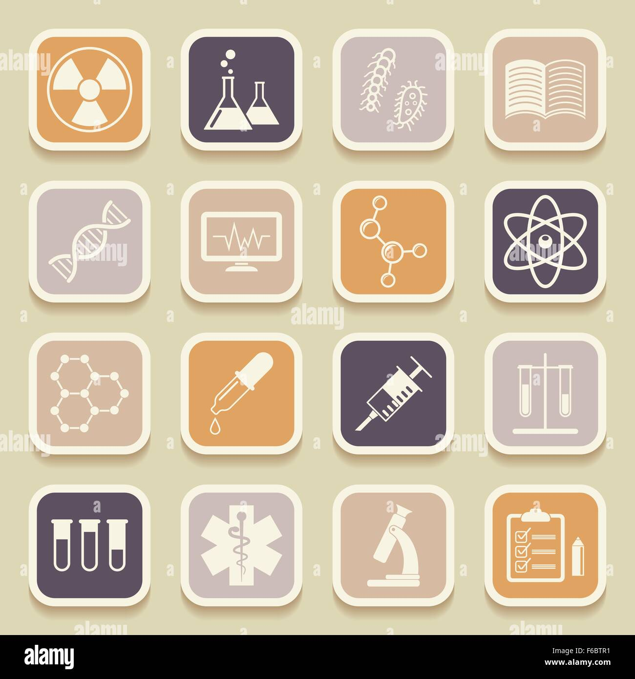 Science, medical and education universal icons for web and mobile applications. Vector illustration Stock Vector