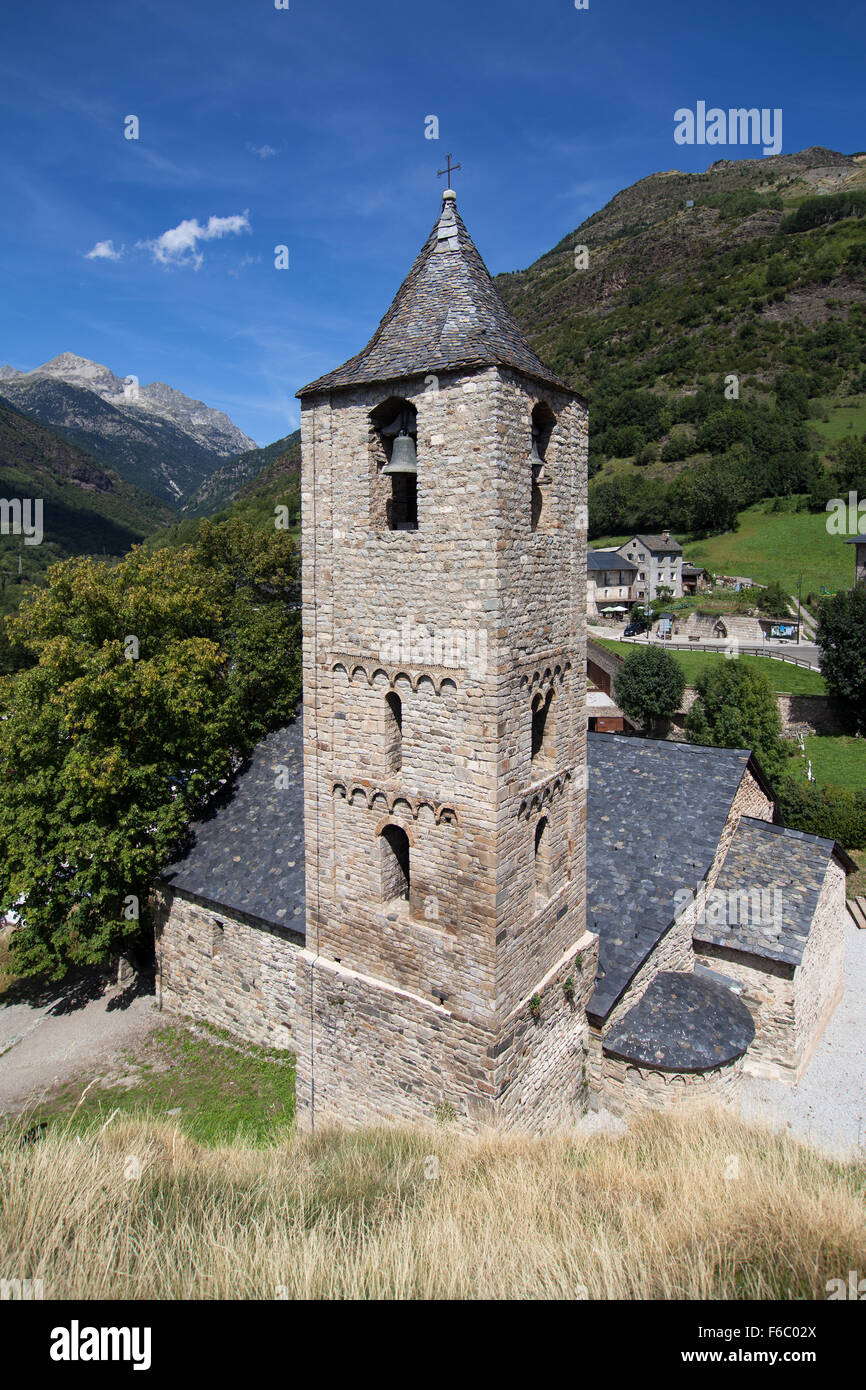 Romanesque church of Sant Joan in Boi, Vall de Boi, Catalonia. - Stock Image