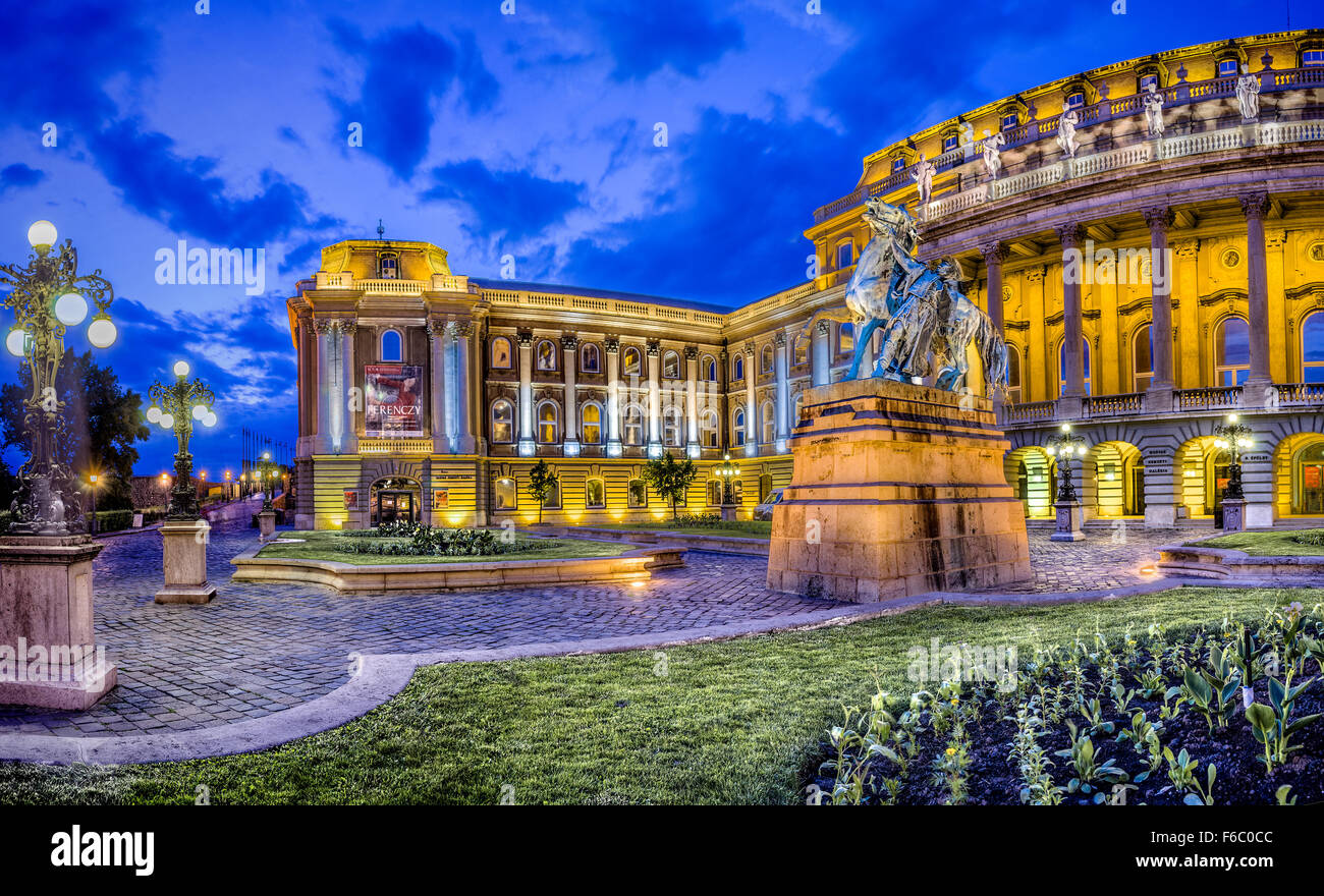 Royal Palace on Castle Hill, Budapest, Hungary Stock Photo