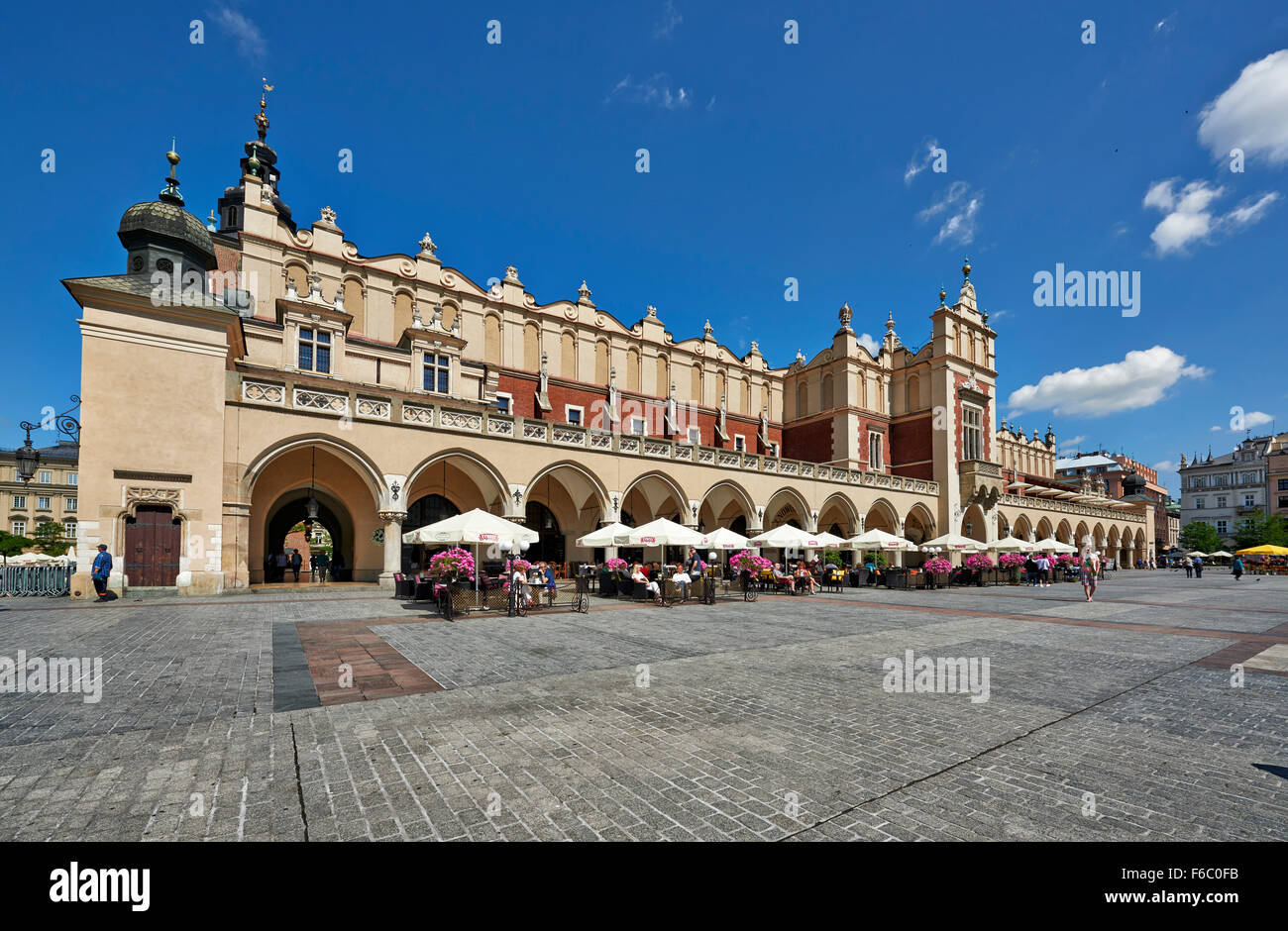 Cloth Hall (Sukiennice), Rynek Glowny, Cracow, Poland Stock Photo
