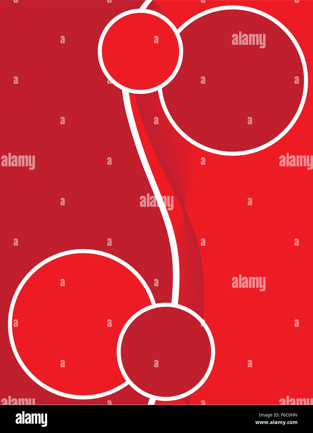 Brochure Background Red Swirls - Stock Image