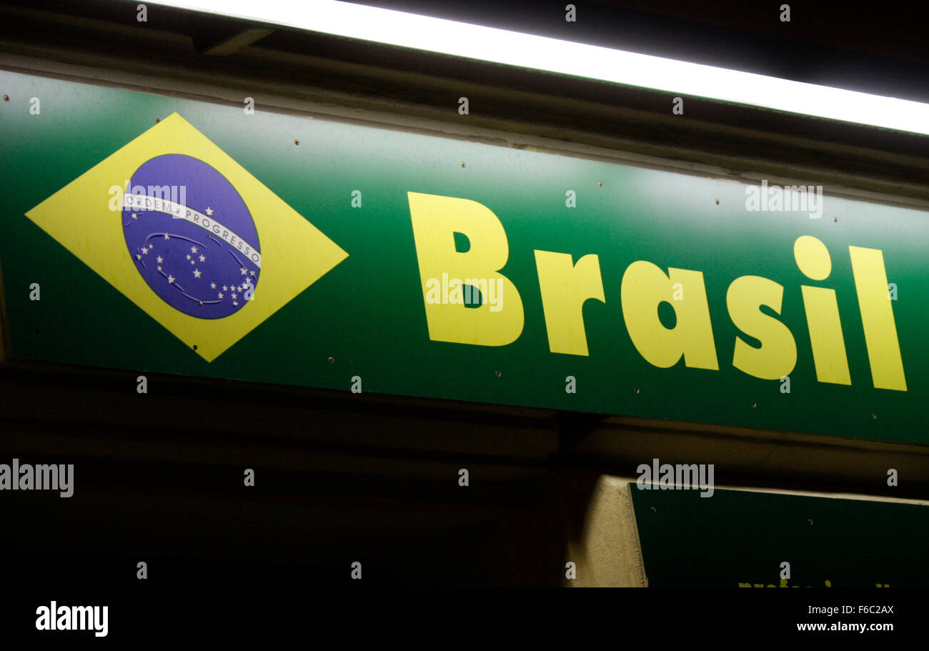 Markenname: 'Brasil', Berlin. - Stock Image