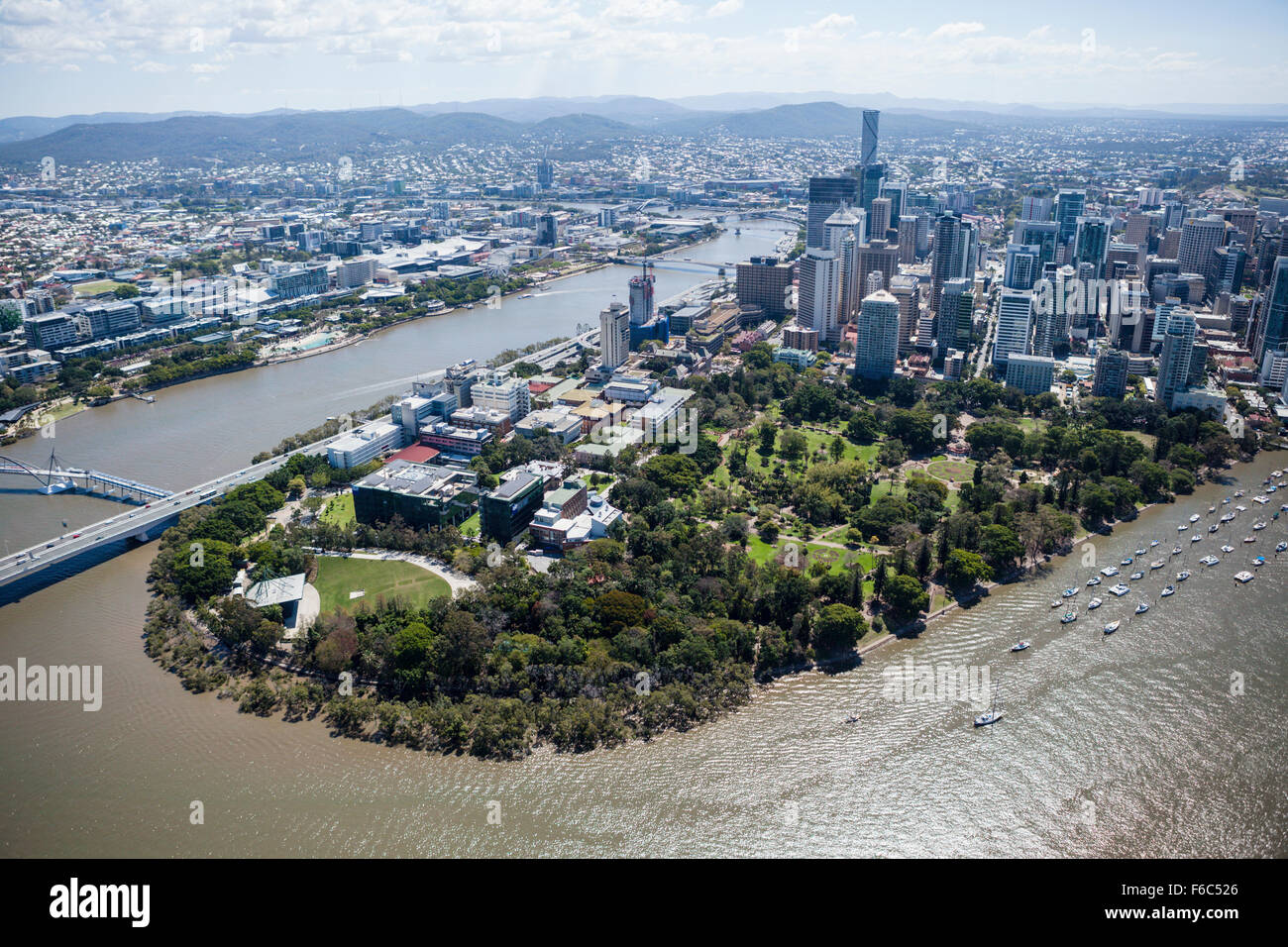Skyline of Brisbane, Queensland, Australia - Stock Image