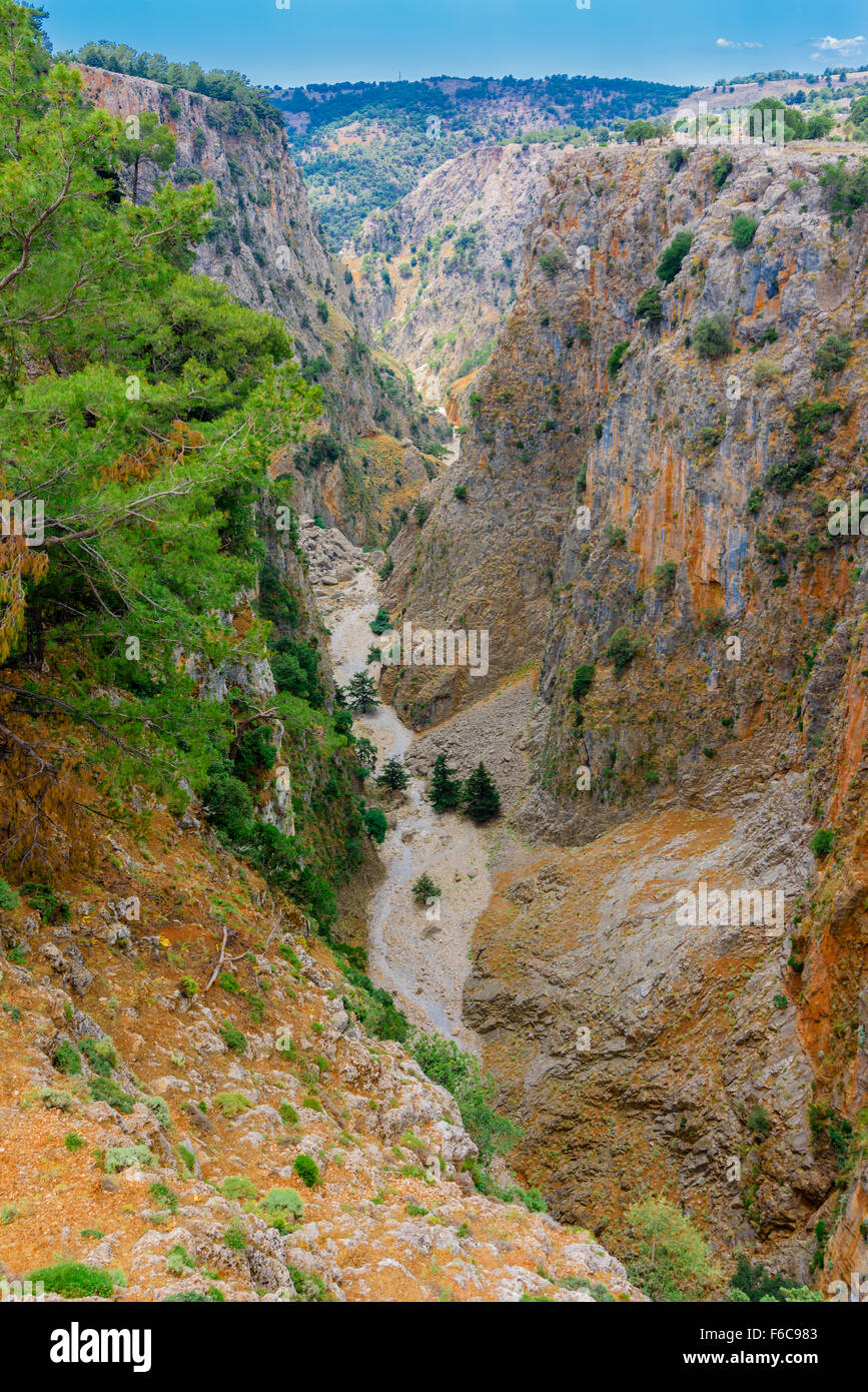 Aradena Schlucht Kreta, Aradena Gorge Crete - Stock Image