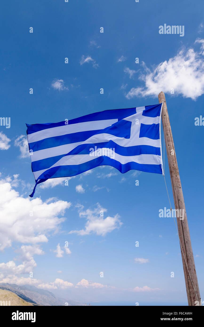 Griechische Flagge, Greek Flag - Stock Image
