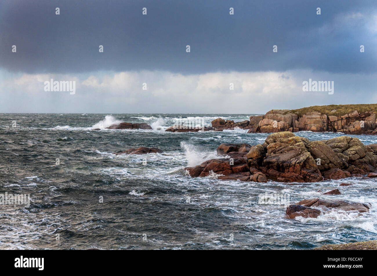 Wild Atlantic Way the ocean from Cruit Island, County Donegal, Ireland - Stock Image