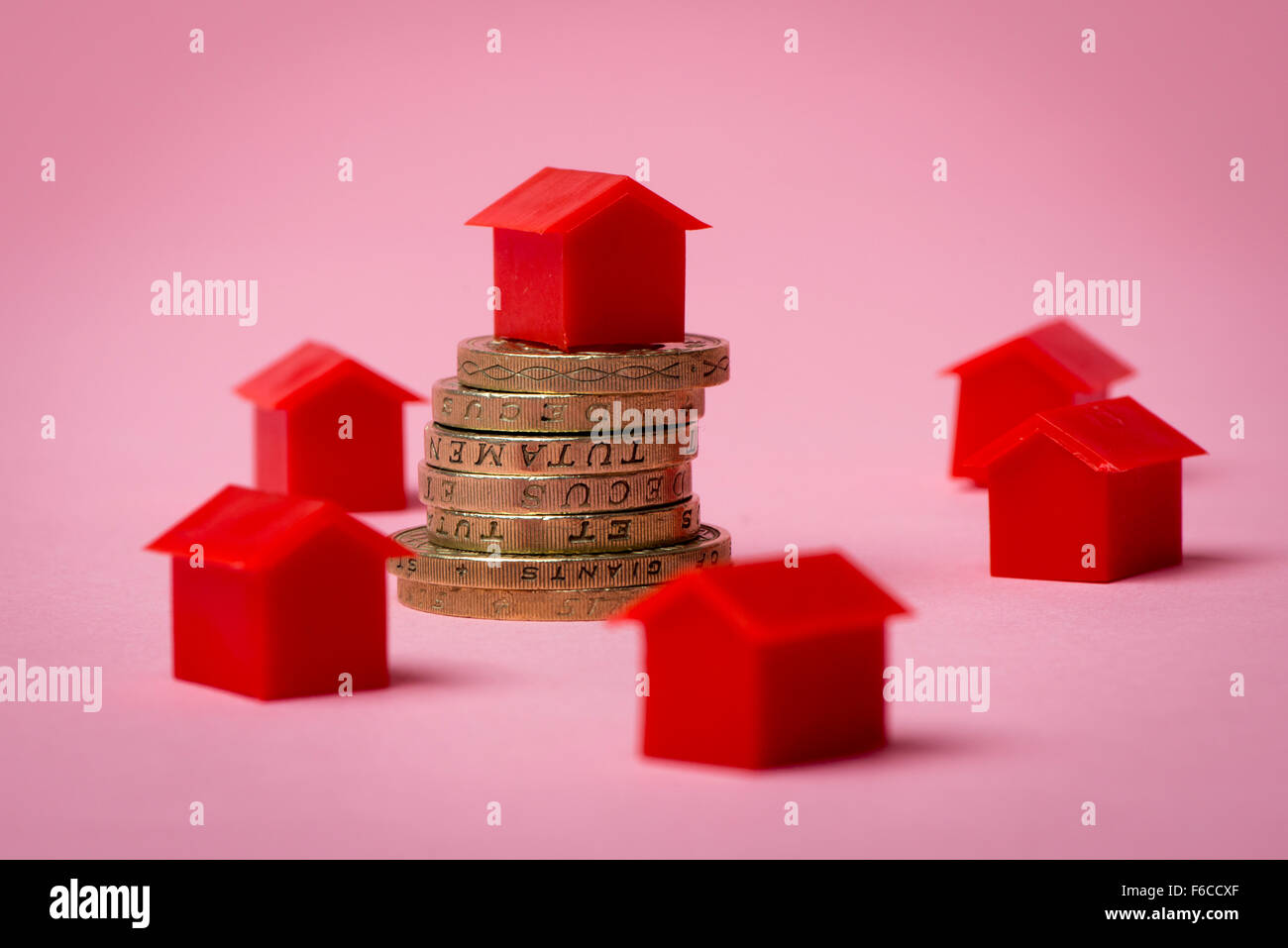 Property price concept - Stock Image