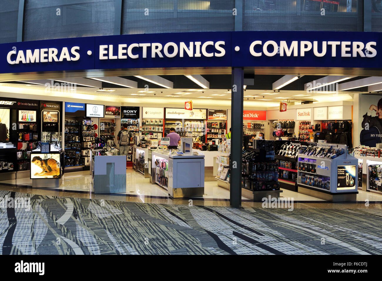 An Electronics Store At Changi International Airport In