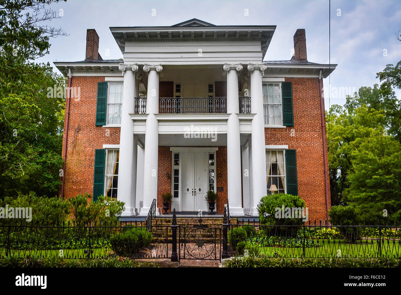 The 'Columns' an historically significant Greek Revival mansion used as hospital by Union Army during the - Stock Image