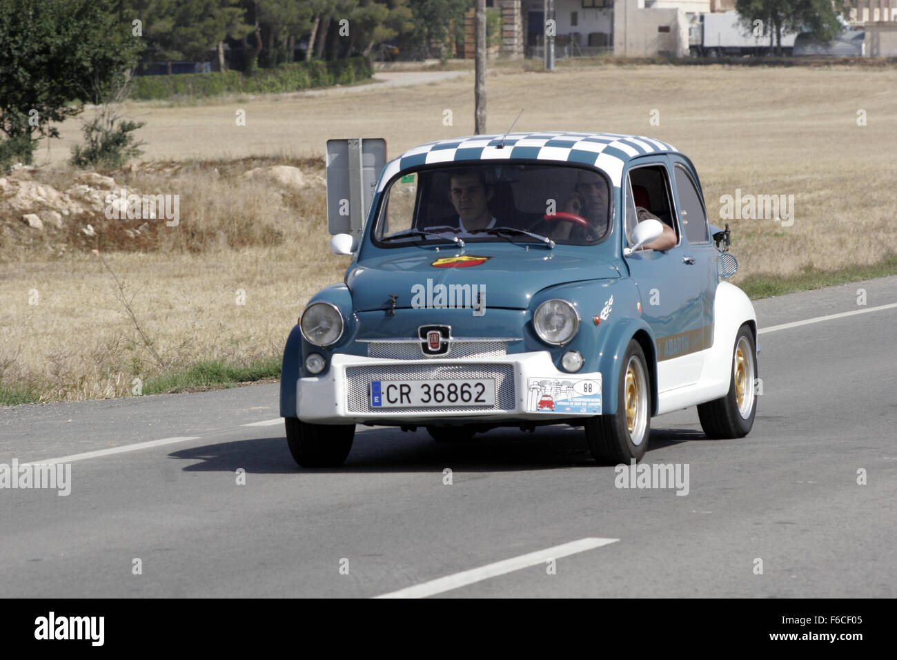 Albacete Circuit : Classical seat 600 car meeting in albacete spain. fiat abarth stock