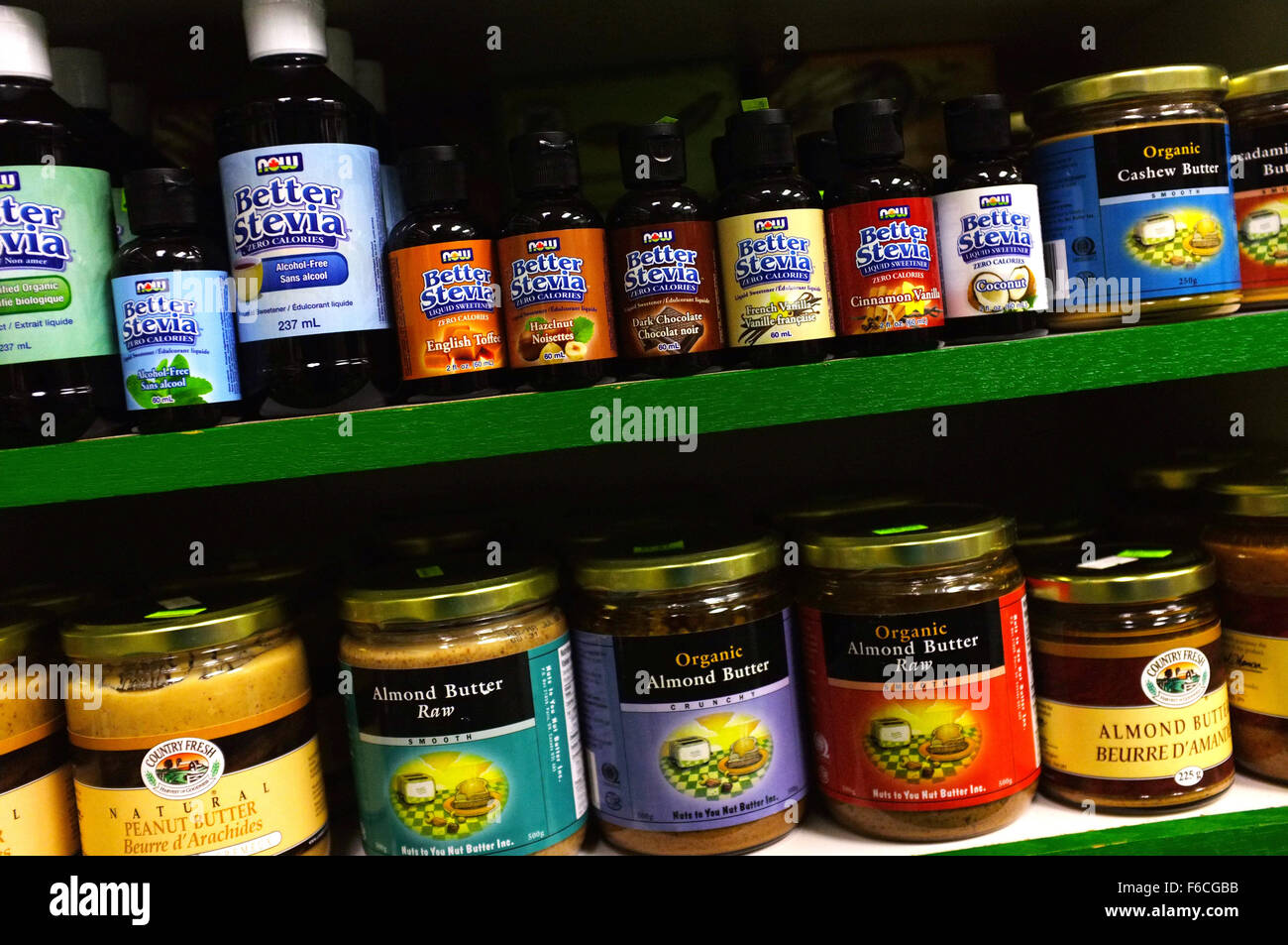 44f29588ea8 Natural Health products on the shelf of a health shop in Canada ...