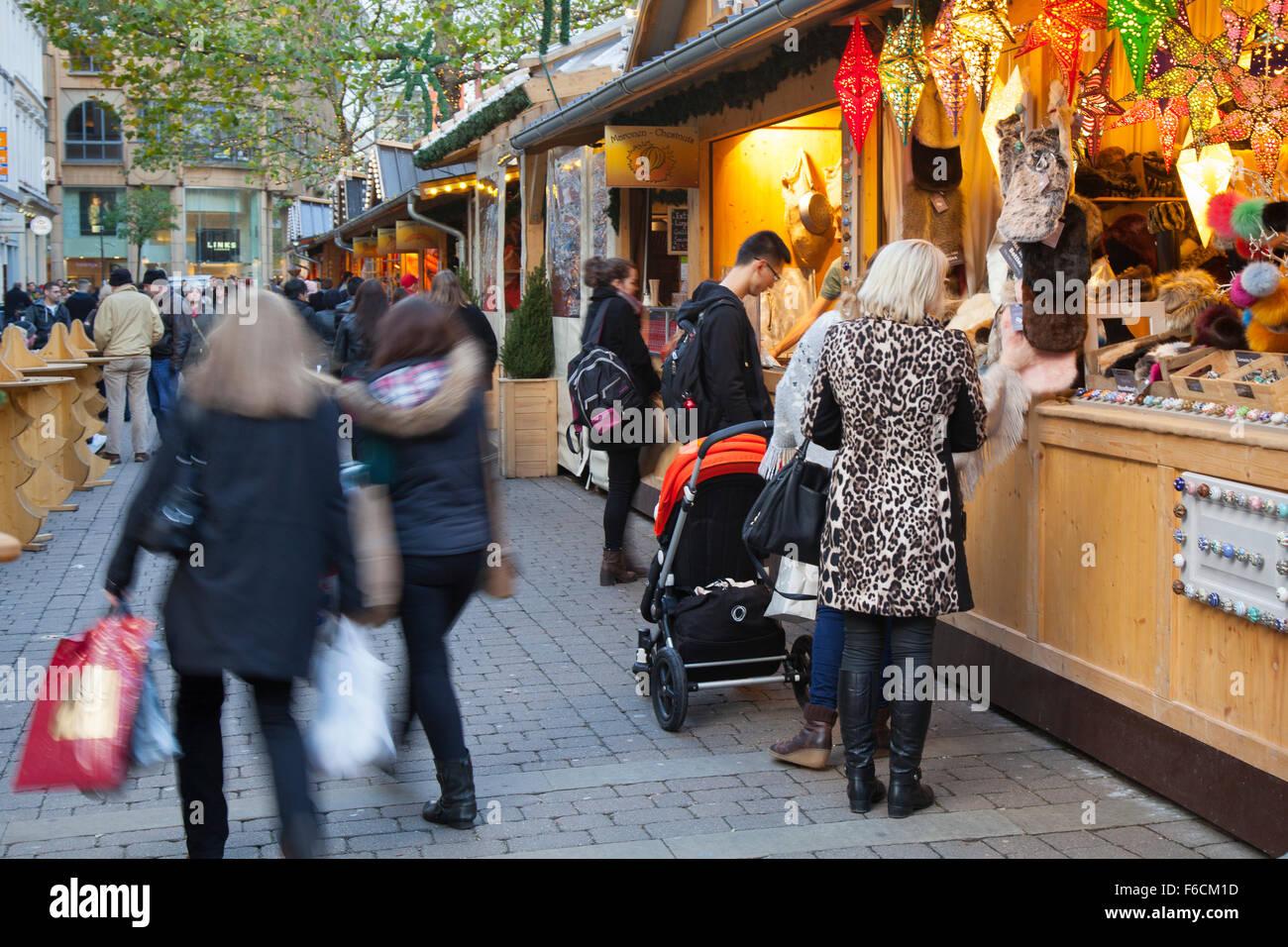 2015 Christmas Market, Manchester, UK - Stock Image