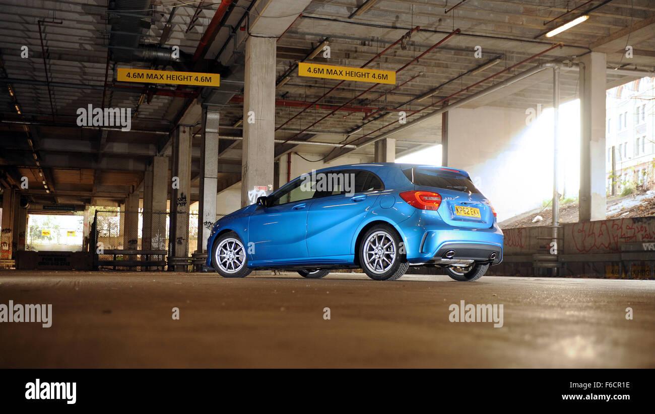 Mercedes A 220 CDI Blue Efficiency AMG Sport Stock Photo