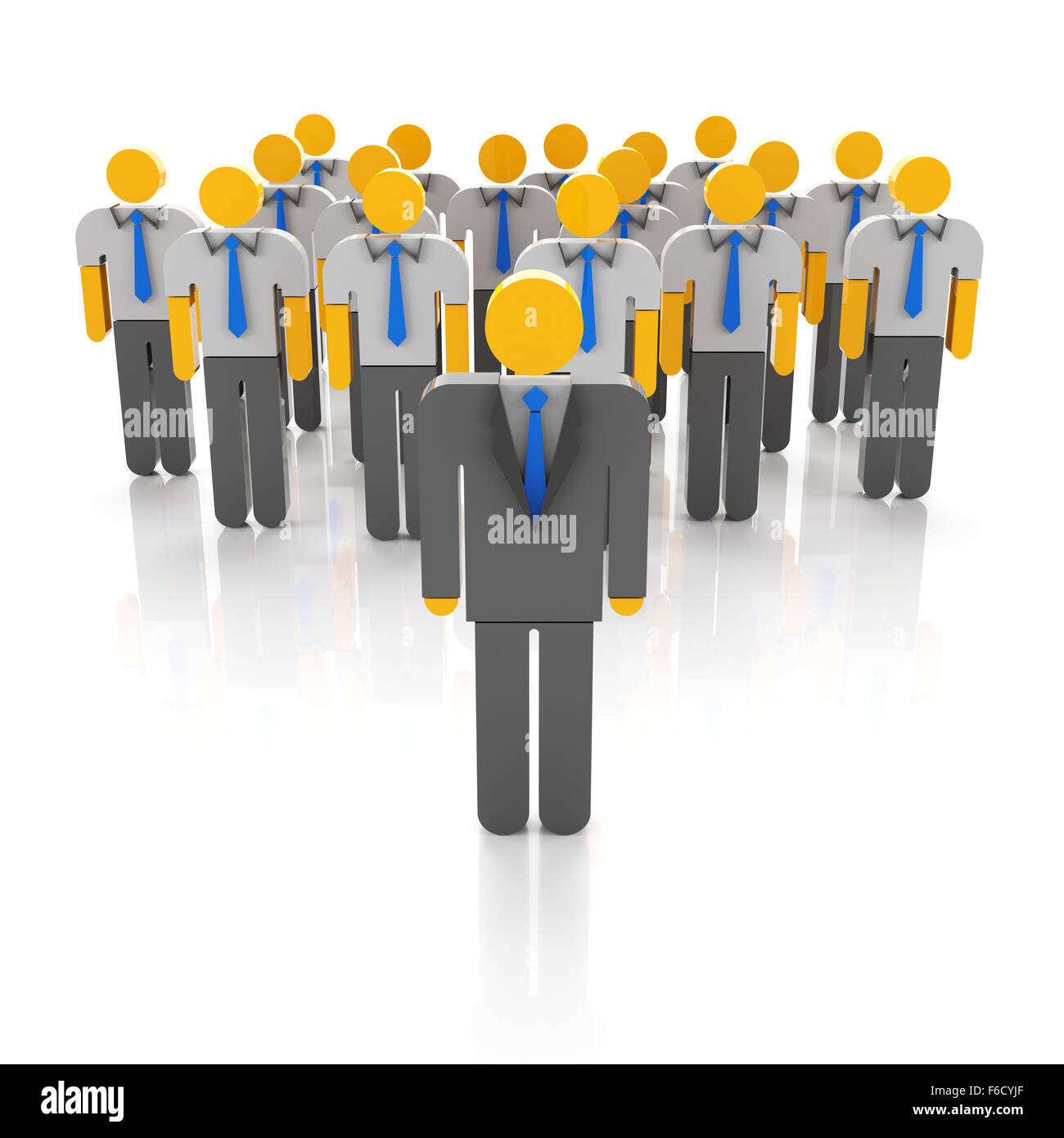 Business team and leadership - Stock Image