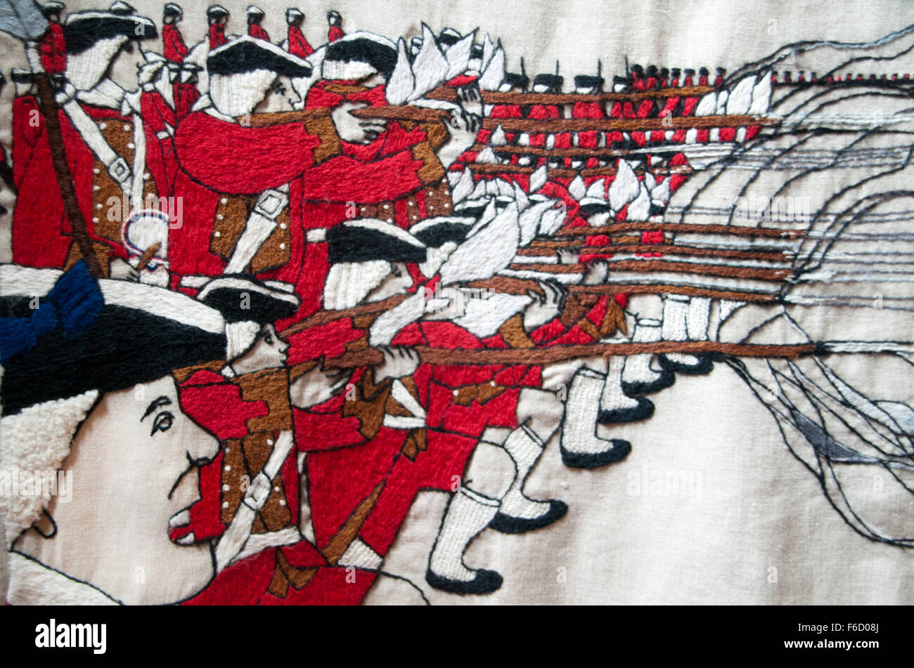 The Battle of Prestonpans Tapestry 1745 Stock Photo