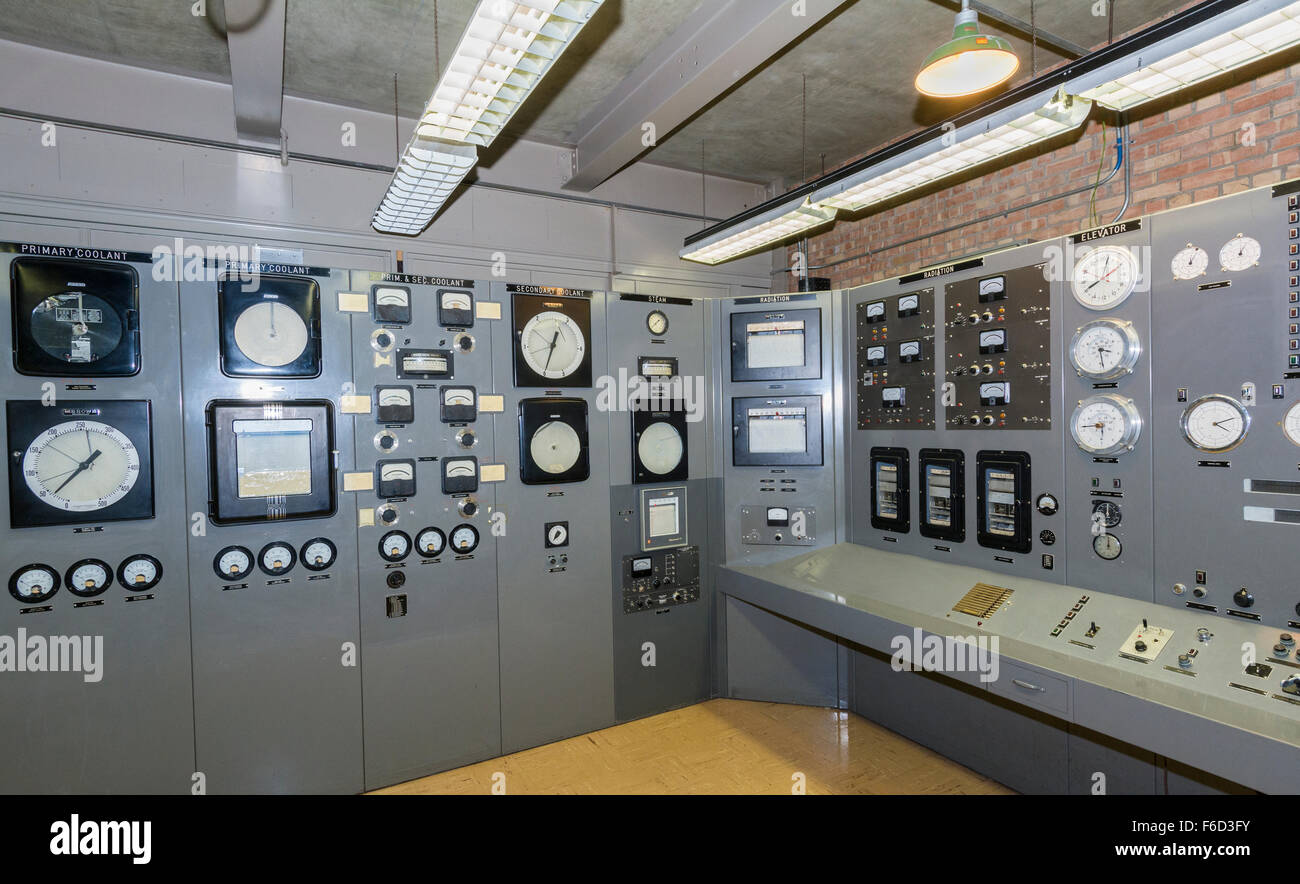 Idaho, Experimental  Breeder Reactor No. 1 (EBR-1), world's first nuclear power plant, operated 1951-1964, Control - Stock Image