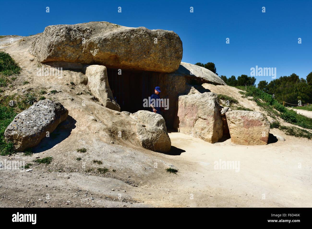 The Dolmen of Menga. Antequera. Malaga. Spain - Stock Image