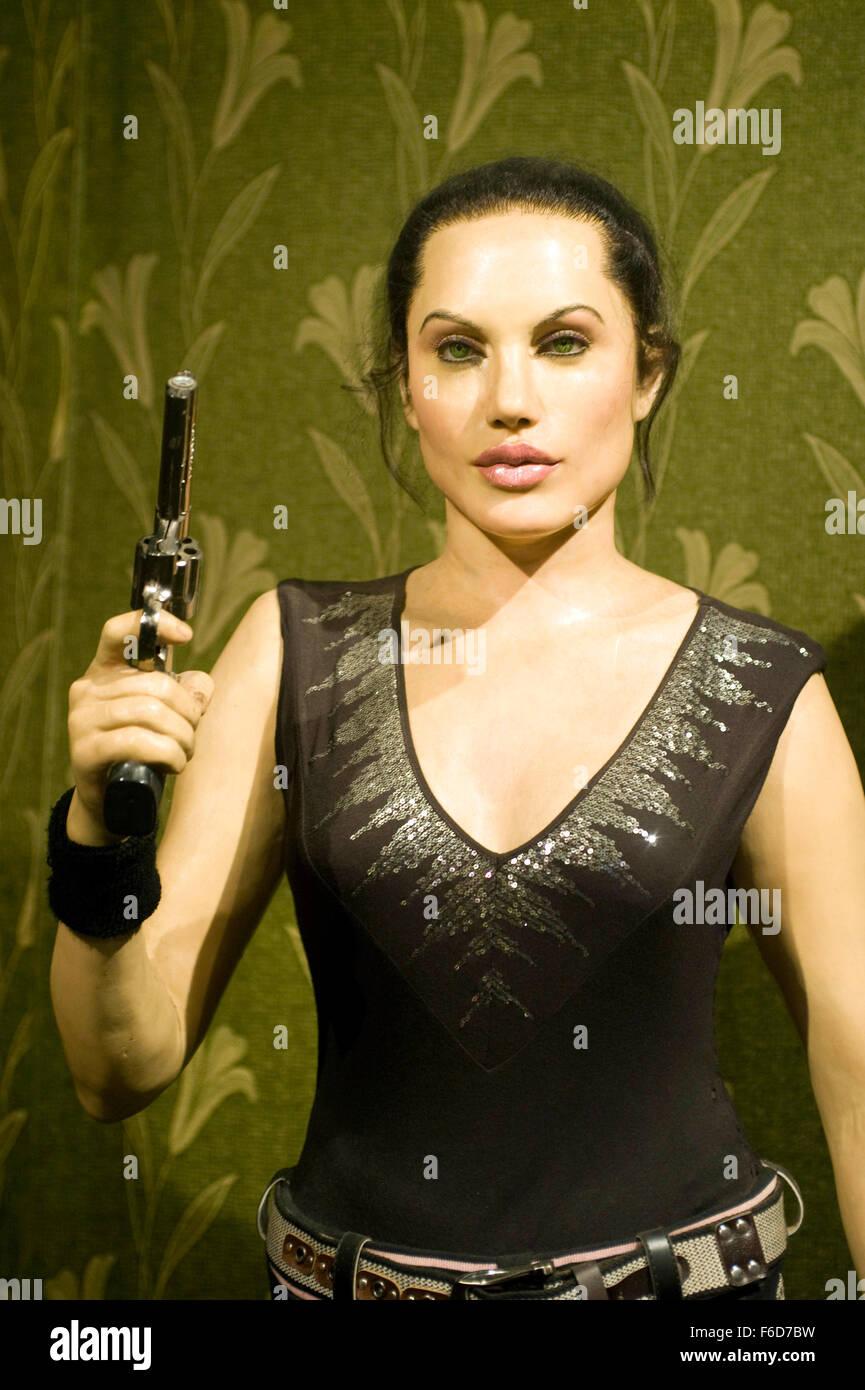 Hollywood actress angelina jolie statue, wax museum, lonavala, maharashtra, india, asia - Stock Image