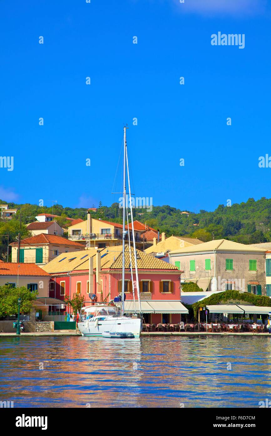 Gaios Harbour, Paxos, The Ionian Islands, Greek Islands, Greece, Europe - Stock Image